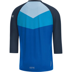 GORE WEAR C5 All Mountain 3/4 Maillot Hombre, dynamic cyan/marine blue